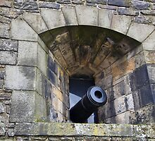 A canon projecting from Edinburgh Castle by ashishagarwal74