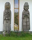 Carved figures, Ethnographical Museum, Szentendre, Hungary by Margaret  Hyde