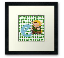 e for elf Framed Print