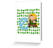 e for elf Greeting Card