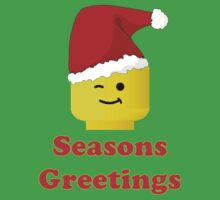 Santa Minifig Seasons Greetings by Customize My Minifig by ChilleeW