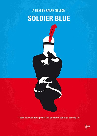 No136 My SOLDIER BLUE minimal movie poster by Chungkong