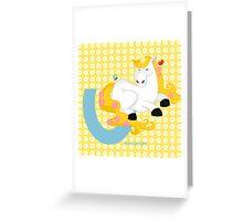 u for unicorn Greeting Card