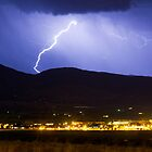 Lightning Striking Over IBM Boulder by Bo Insogna