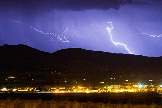 Lightning Striking Over IBM Boulder 2 by Bo Insogna
