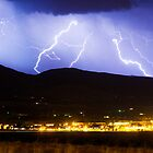 Lightning Striking Over IBM Boulder 3 by Bo Insogna