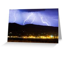 Lightning Striking Over IBM Boulder 3 Greeting Card