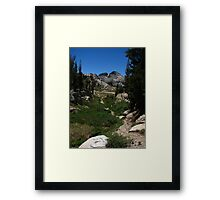 West of Benson Pass, Pacific Crest Trail, CA 2012 Framed Print