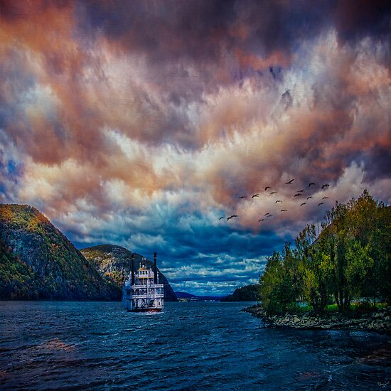Steamboat On the Hudson River by Chris Lord