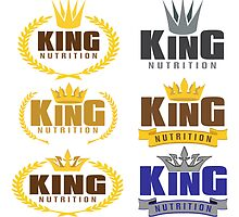 KING NUTRITION LOGO CONCEPTS by omar305
