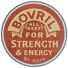 Vintage Bovril Meat Extract Palm Hand Mirror Label Reproduction by JohnOdz