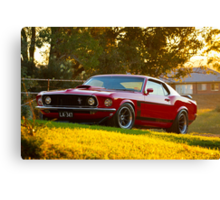 Laurie Attard's 1970 Ford Mustang Canvas Print