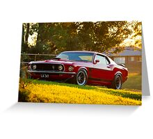 Laurie Attard's 1970 Ford Mustang Greeting Card