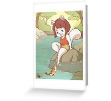 Chippe the Squirrel Greeting Card