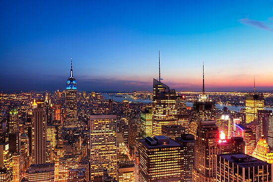 All That Glitters Is Gold - NYC Skyline by Mark Tisdale