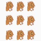 lion stickers by sunset