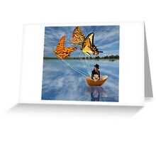 Butterfly Sailing Greeting Card