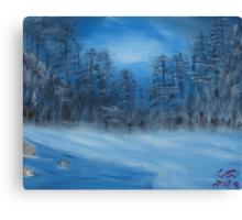 """Winter Scene 4""  by Carter L. Shepard Canvas Print"