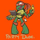 Michelangelo is a Party Dude by LillyKitten