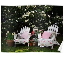 Afternoon Tea Under The Magnolia Tree Poster