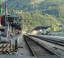 Railway Station West Interlaken Switzerland by ashishagarwal74