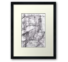 A Place of Abstraction Framed Print