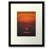 Trying To Catch The Natural Light: Evening II - Probando De Capturar La Luz Natural: Nochecita Framed Print