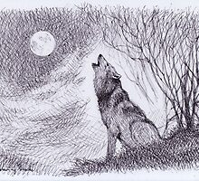 Howling Wolf by thedrawinghands