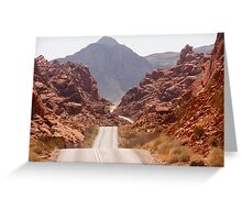 The Road Goes On and ON Greeting Card