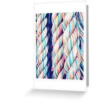 Rainbow Ropes Greeting Card