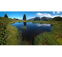 Hikers Paradise in Tirol Photographic Print