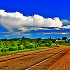 Country Road and Clouds by EBArt