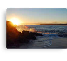 Beachport Sunset Explosion Canvas Print