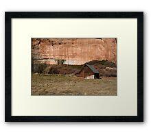 Old Barn in the Desert #2 Framed Print