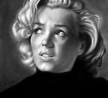 Marilyn Monroe drawing by John Harding