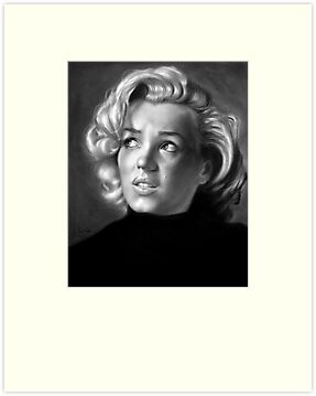 Marilyn Monroe drawing by John Harding