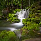 Waterfall, Ryusendo Caves, Japan by Marc Maschhoff
