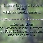 In my weakness... by Donna Keevers Driver