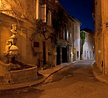 Dusk on a St Remy street by S T