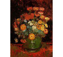 Vase with Zinnias Vincent van Gogh Photographic Print