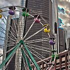 Ferris Wheel at Detroit River Days by Tina Logan