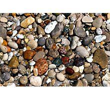 Wet, Colorful Beach Pebbles Photographic Print
