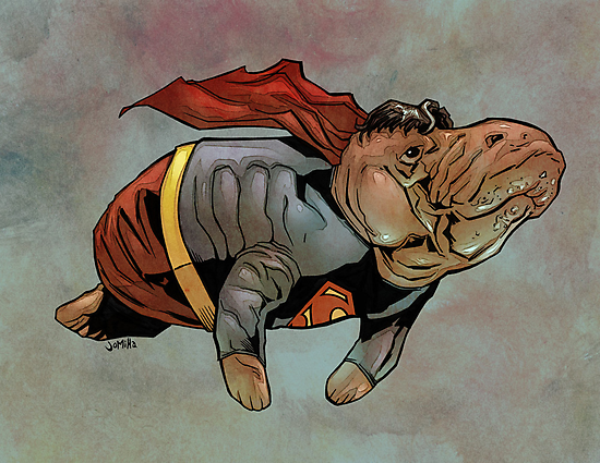 Supermanatee by jomiha