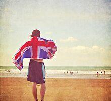 An englishman on the beach by Lyn  Randle