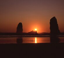 The Needles at Cannon Beach by jschwab