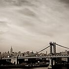 The New York City Skyline and the Manhattan Bridge by Vivienne Gucwa