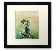 Peacock Dance Framed Print
