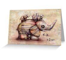 upside down elephants Greeting Card