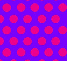 Pink and Purple Polka Dot iPhone Case by giraffoarts