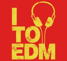 I Listen to EDM (yellow) by DropBass